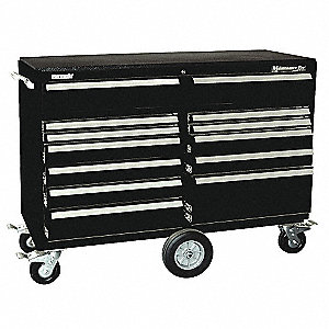 "Black Maintenance Tool Cart, Maintenance Pro , Width: 57-1/4"", Depth: 20"", Height: 43-1/2"""