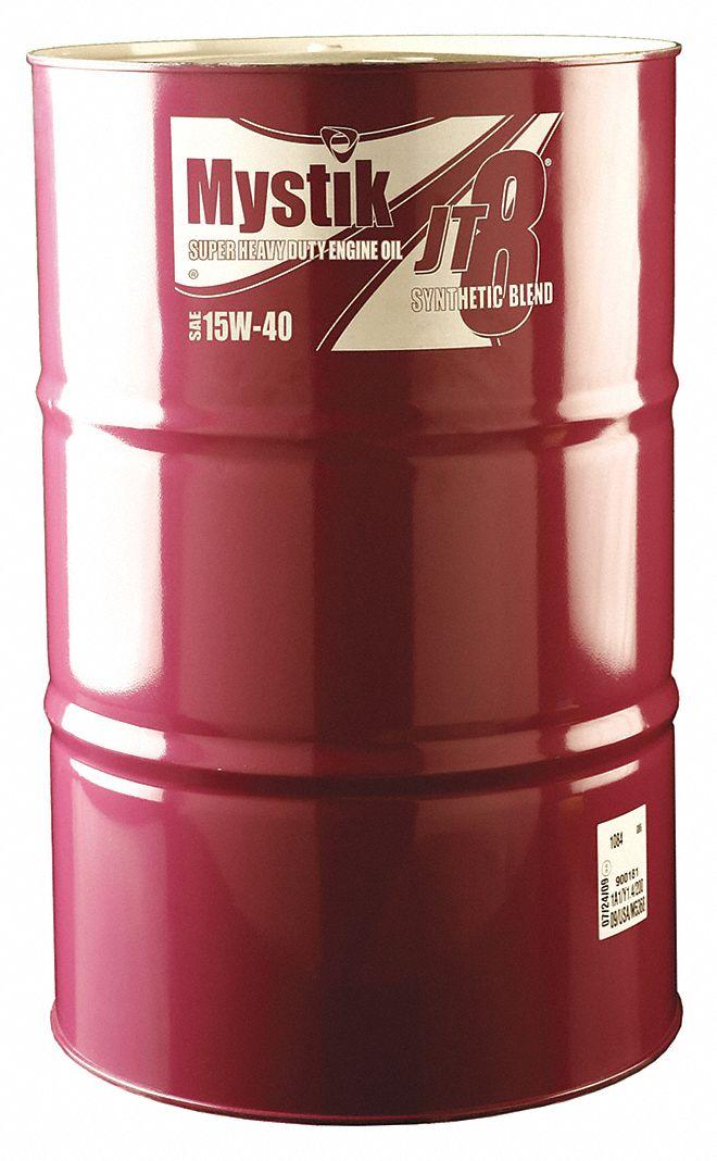 Mystik motor oil amber drum 15w 40 55 gal 33me98 for Motor oil 55 gallon drums wholesale