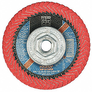 "4-1/2"" Flap Disc, Radial, Ceramic, 60 Grit, 5/8-11 Mounting Size, SGP CURVE 5/8"" Thickness"