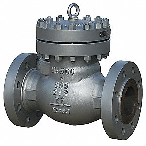 "12"" Swing Check Valve, Carbon Steel, 300 Class Flange Connection Type"