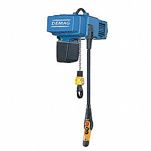 2200 lb. Capacity Electric Chain Hoist, H4 Classification, 26 ft. Lift, 480 Voltage