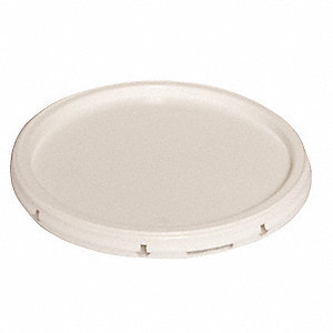 Plastic Pail Lid,Snap,White,For 34A233