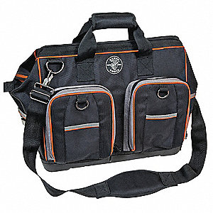 Canvas Tool Bag, Electricians, Number of Pockets: 78, Black