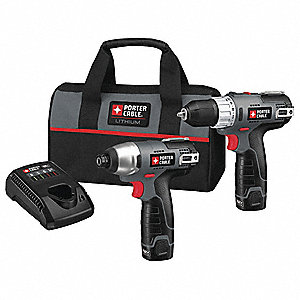Cordless Combination Kit, Voltage 12.0 Li-Ion, Number of Tools 2