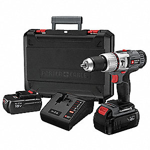 "1/2"" Cordless Hammer Drill Kit, Voltage 18.0 NiCd, Battery Included"