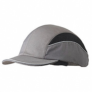 Gray Inner ABS Polymer, Outer Nylon Bump Cap, Style: All Season Baseball, Fits Hat Size: 7 to 7-3/4