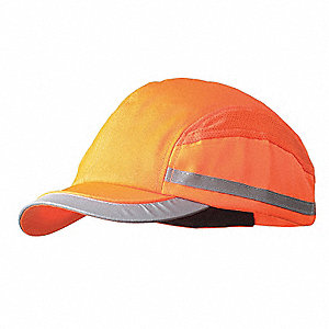 Orange Inner ABS Polymer, Outer Nylon Bump Cap, Style: All Season Baseball, Fits Hat Size: 7 to 7-3/