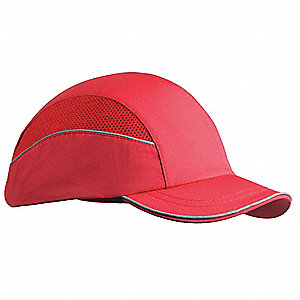 Red Inner ABS Polymer, Outer Nylon Bump Cap, Style: All Season Baseball, Fits Hat Size: 7 to 7-3/4