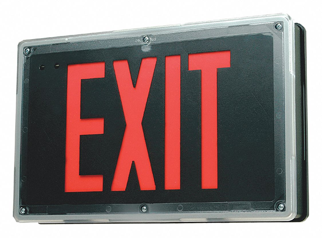 Philips Chloride Exit Sign 3 8w Red Black 8 27 32 In