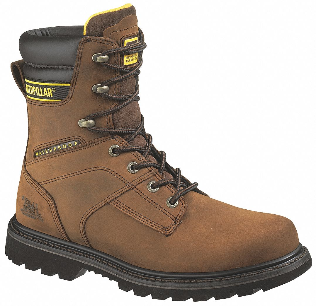 cat footwear work boots men 11 5 w waterproof brwn pr. Black Bedroom Furniture Sets. Home Design Ideas