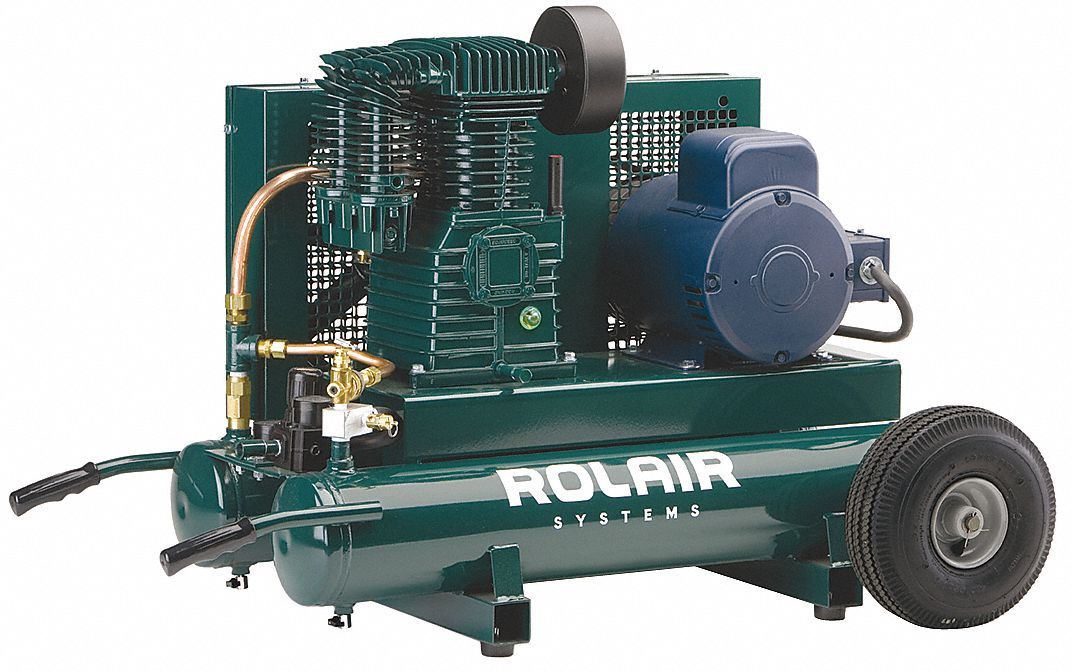Rolair 3 Hp 230vac 9 Gal Portable Electric Air