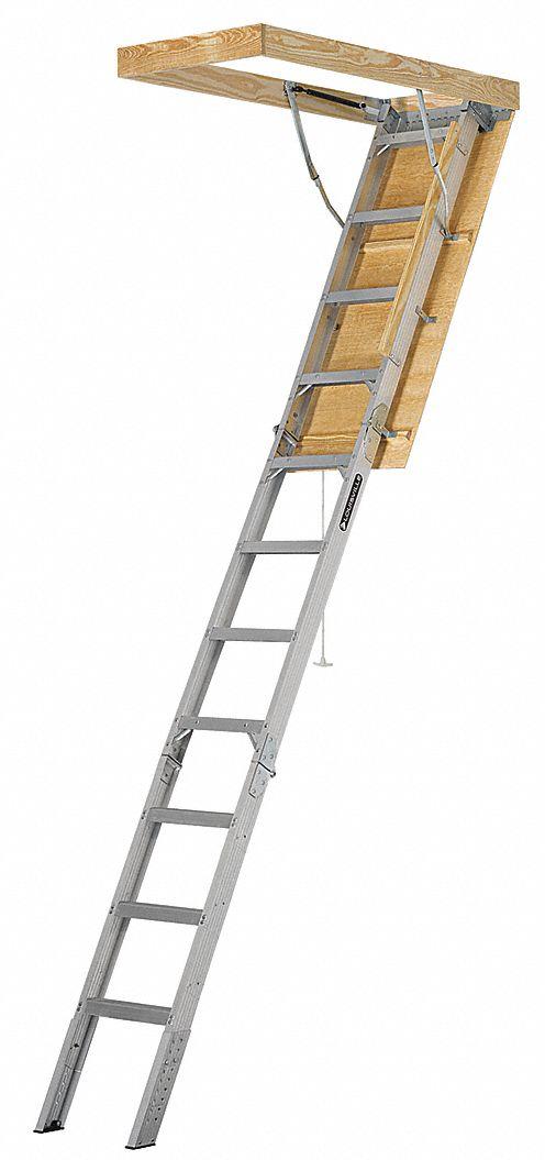 Louisville Aluminum Attic Ladder 7 Ft 11 Quot To 10 Ft 3