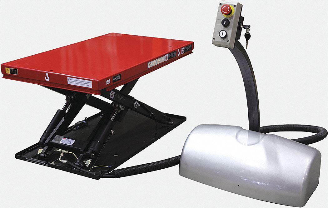 Dayton Stationary Electric Lift Scissor Lift Table 550 Lb