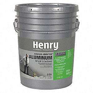 Henry Aluminum Roof Coating Silver Matte 5gal 35lr67