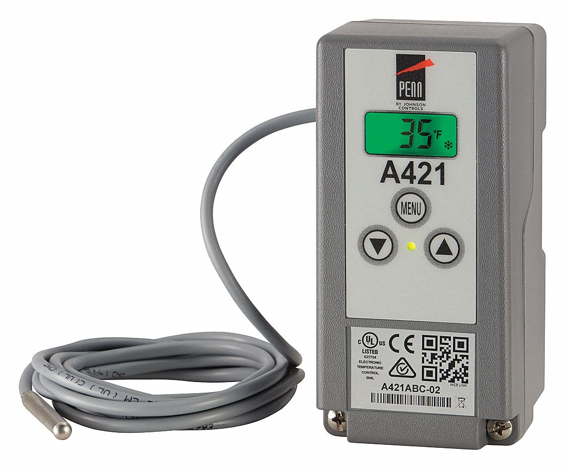 JOHNSON CONTROLS Electronic Temp Control, 2-3/8 In. D