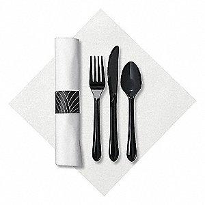 Hoffmaster Cutlery Set Black Heavy Weight Pk200 35ng24