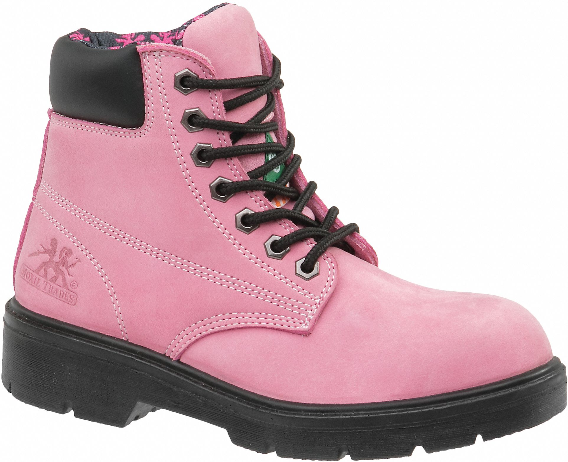 moxie trades 6 u0026quot  work boot  9 2  d  women u0026 39 s  pink  steel