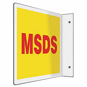 Sign,MSDS,8x12 In.