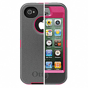 Defender Case,iPhone 4S,Pink/Gray