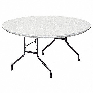 "Folding Table,Gray,29""H x 60""L x  60""W"