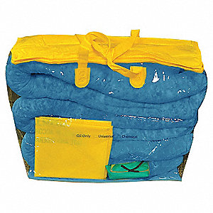 Oil Spill Kit,5 gal,Zipper Bag