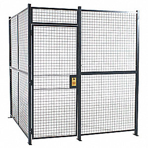 Welded Wire Partition,3 sided,hinge door