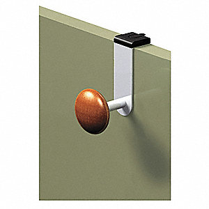 Cubicle Garment Hook,Over Panel,1 Hook