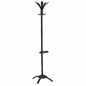Coat Stand,Black,5 Hook