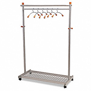 Garment Rack,72 x 22 In,Gray