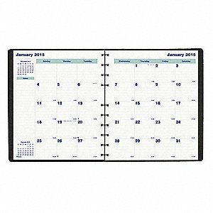 Month Planner,11x9-1/16 In,White