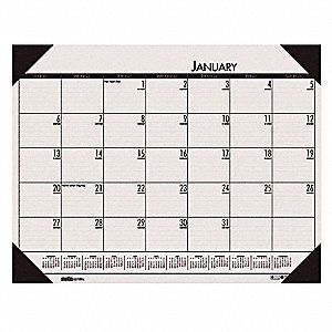 Monthly Desk Pad Calendar,22x17 In,Rose