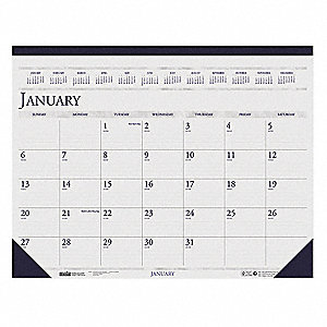 Dated Monthly Desk Calendar,22x17 In.