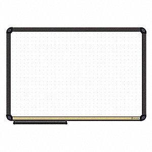 "Magnetic Dry Erase Board With Cork Strip, 36"" Width, 24"" Height"