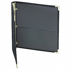 "Black Classic Collection® Ring Binder Portfolio, 1"" Round, Leather-Like Vinyl"