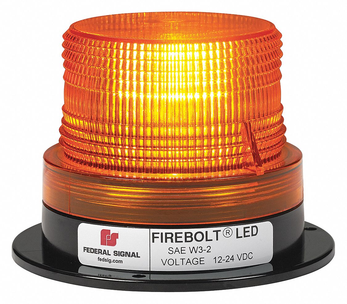 FEDERAL SIGNAL Beacon Light, Amber, Flashing