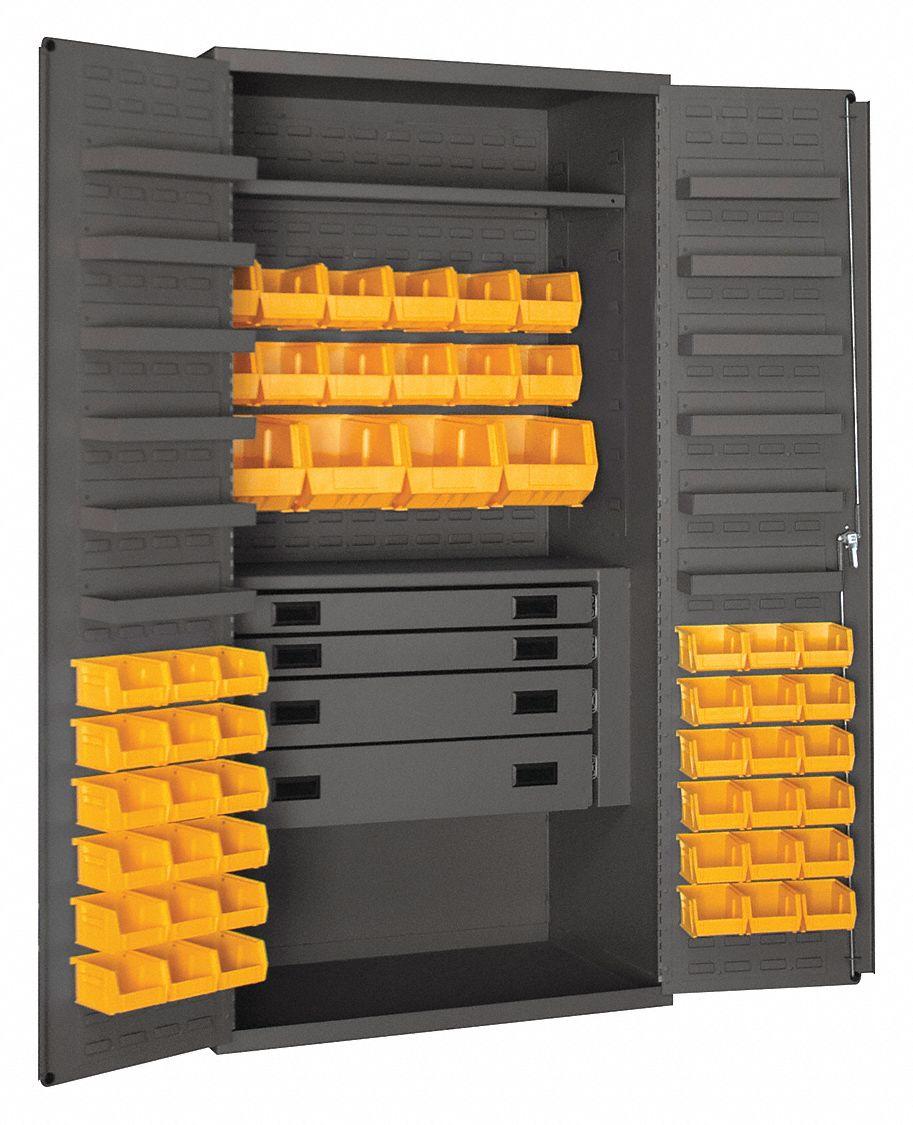 Durham Bin Cabinet Ind 14 Ga 52bins Yellow 36fa91