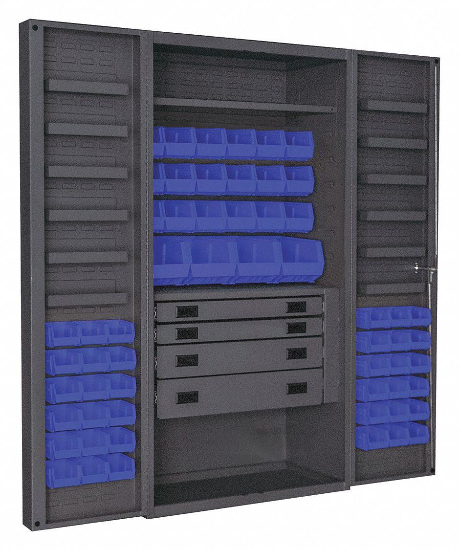 Durham Bin Cabinet Ind 14ga 58bins Blue Deep 36fc23