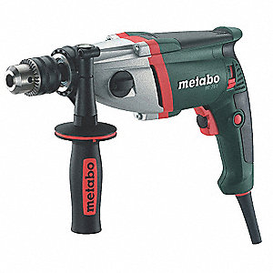 "1/2"" Electric Drill, 6.5 Amps, Pistol Grip Handle Style, Voltage 120VAC"
