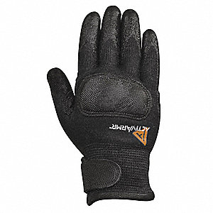Neoprene FR Utility Glove, ANSI/ISEA Cut Level 4, Kevlar® Lining, Black, 9, PR 1