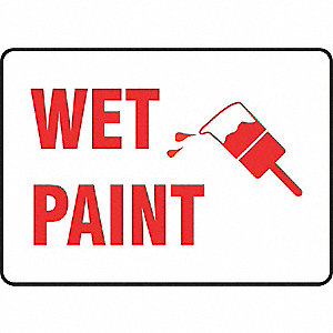 Sign Pad,Wet Paint,10 x 14 In.,PK25