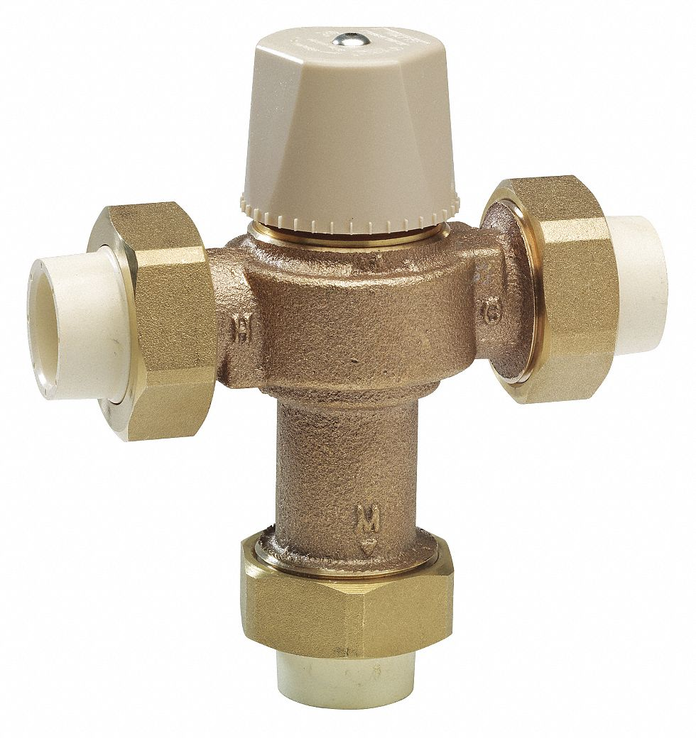 """Watts Thermostatic Mixing Valve: WATTS 3/4"""" Solvent Weld Inlet Type Thermostatic Mixing"""