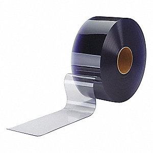 Flexible Bulk Roll,Smooth,12in,Clear,PVC
