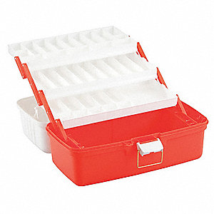 Trauma Box,19-1/4 in,PP,Orange/White