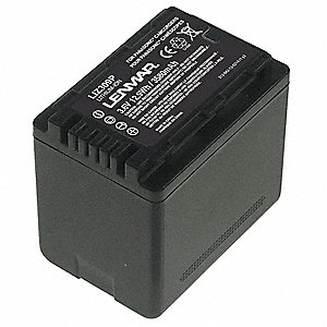Panasonic Camcorder Battery, Lithium-ion, Voltage 3.6, 3580mAh, 1 EA