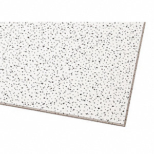 "Acoustical Ceiling Tile, 12"" Width, 12"" Length, 5/8"" Thickness, Mineral Fiber"
