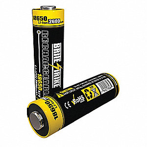 18650 Lithium-ion Rechargeable Battery, Voltage 3.7, 1 EA