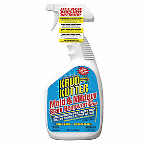 Mold and Mildew Stain Remover, 32 oz. Spray or Brush, 1 EA