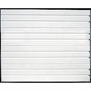 "Dock Door, White, 7 ft. 4"" Opening Width, 7 ft. 6"" Opening Height, Insulated: No"