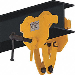 "Clamp Trolley, 10,000 lb. Load Capacity, Fits Beam Flange W 4"" to 12"""