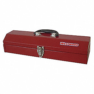 "Portable Tool Box, Polypropylene, Steel, 19-1/4"" Overall Width x 6"" Overall Depth"
